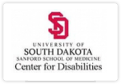 University of South Dakota Sanford School of Medicine Center for Disabilities logo